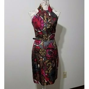 Trina Turk Huston Belted Artist Garden Dress sz 8